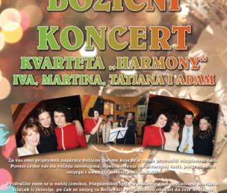 Božićni koncert – Harmony kvartet