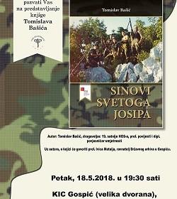 """Predstavljanje knjige """"Sinovi svetoga Josipa"""" autora Tomislava Bašića"""