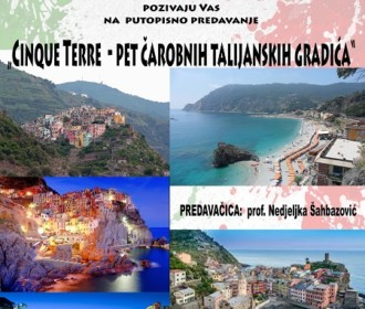 "Putopisno predavanje ""Cinque Terre – pet čarobnih talijanskih gradića"""