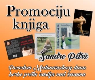 Predstavljanje knjiga Sandre Petrž povodom obilježavanja Međunarodnog dana borbe protiv nasilja nad ženama