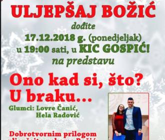 "Humanitarna akcijau KIC-u Gospić – ""ULJEPŠAJ BOŽIĆ"""