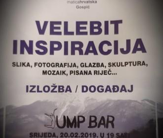 U JUMP BARU GOSPIĆ IZLOŽBA/DOGAĐAJ NA TEMU: VELEBIT KAO INSPIRACIJA