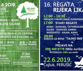Na rijeci Lici u Perušiću 22.i 23.lipnja Veslačka regata i Zeleni sajam
