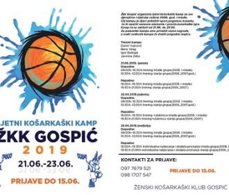 Do 15.lipnja traju prijave na ljetni košarkaški kamp ŽKK Gospić