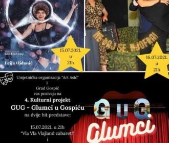 Glumci u Gospiću- ove godine dvije hit predstave!