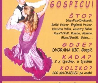 Tečaj društvenih plesova u Gospiću
